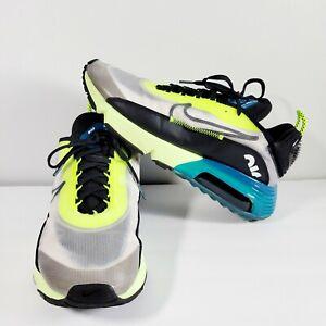 Nike Air Max 2090 White Volt Valerian Black Blue Men's Size 10