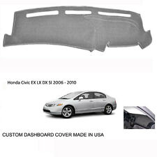 Brand New Honda Civic Custom Silver Gray Dashboard Dash Cover 2006 - 2010