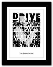 More details for ❤  r.e.m automatic for the people ❤ typography poster art print - a1 a2 a3 or a4