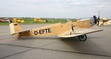Klemm Kl 25 German Training Plane Aircraft Mahogany Wood Model Large New
