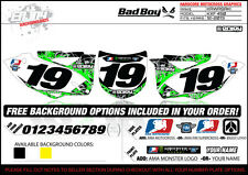 Kawasaki KXF450 Number Plate Graphics 2012-2014 Bad Boy Style By Enjoy Mfg