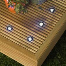 10 30mm LED Lights Plinth/Decking/Deck WHITE IP66 NEW