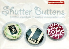 Lomography Shutter Button Set #2 for jacket case bag or collection (NEU/OVP)