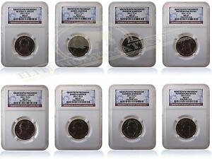 NGC MS67 2011 P&D Presidential Dollar Set of 8 Coins Gem Uncirculated Coins