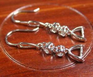 1 pair Sterling Silver 0.925 Hook Earrings Earring Dangle Clasp 264542