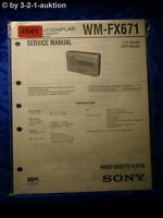 Sony Service Manual World Cup FX671 Cassette Player (#4541)