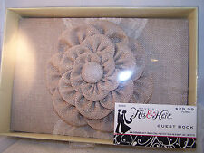 Studio His & Hers Burlap & Lace Guest Registry Book New