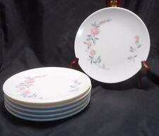 "6 Vintage KILLARNEY ROSE Boontonware Melmac Melamine Dessert Bread 6-5/8"" Plate"