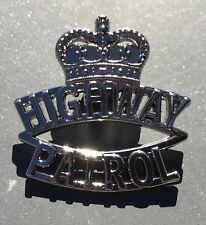 Highway Patrol Pin, Police, Law Enforcement, Silver Colour