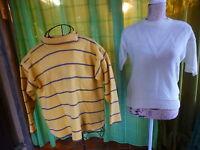lot==taille 2=== femme   2   pulls jaunes  asaisir