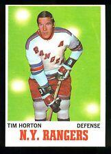 1970 71 TOPPS HOCKEY #59 TIM HORTON NM NEW YORK N Y RANGERS TORONTO MAPLE LEAFS