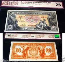 1935 $20 Canadian Bank of Commerce  BCS 30