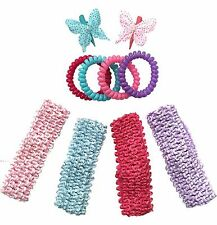 Pack of 10 Assorted Girls Hair Accessories Set - Party Bag Fillers / Christmas S