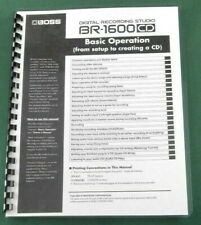 Boss BR-1600CD Basic Operation Manual: Comb Bound with Protective Covers!