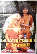 manifesto movie poster 2F GIOCHI EROTICI E DISINIBITI SEX TOYS PAUL VATELLI