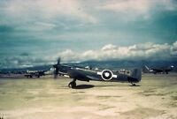 "WWII photo British fighter ""Seafire"" at the airfield of Clark Field/32k"