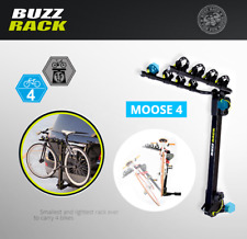 BUZZ RACK Moose H4 Bike Platform Hitch Rack 4 Bike Carrier 2 Foldable Arms Car