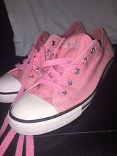 Converse All Star Chick Taylor Lows Pink With Pink Laces Size 8 Woman's