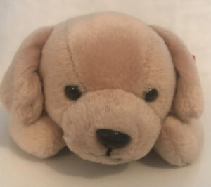 TY Retired Beanie Baby Collection Fetch. Puppy Dog. Vintage 1998. Tan color