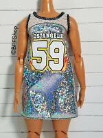 MATTEL SILVER LA 59 DRESS FASHIONISTAS BARBIE FASHION CLOTHES CURVY