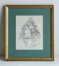 Circus Horse Rider Original Signed Charcoal Drawing by Laura Knight 1877-1970