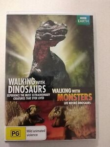 Walking With Dinosaurs/Walking With Monsters Dvd Rare R4