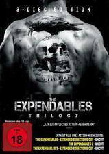 THE EXPENDABLES 1-3  TRILOGY TEIL 1 2 3 UNCUT 3 DISC EDITION DVD DEUTSCH