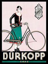 ADVERTISEMENT BICYCLE BIKE WOMAN GRAZ DURKOPP AUSTRIA ART POSTER PRINT LV349