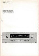 Bedienungsanleitung mit Schema für Saba Telewatt FM-2000