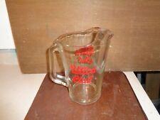 Utica Club Glass Pitcher