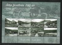 Faroe Islands Scott 435 2003 Old Post Offices stamp sheet mint NH