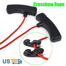 1X Archery Crossbow Rope Cocking Device 3 Finger Handle Hunting Assist Tool Red