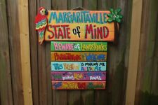 MARGARITAVILLE STATE of MIND HAND MADE SIGN  PLAQUE