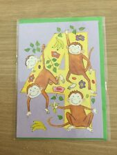 Sealed Happy 4th 4 Today Birthday Greeting Card With Monkey Design (54)
