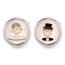 Rosa Faccia Felice Sposa E Sposo Personaggi Gemelli nozze matrimonio
