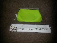 TRINA TURK-Happy Hour Clutch-Neon Green-New with Tags/Dustbag