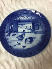 Royal Copenhagen Christmas Plate 1969 In The Old Farm Yard