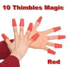 10 Ditali magici (Rossi) - Magic Thimbles - Giochi di Prestigio e Magia