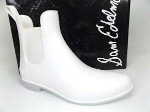 Sam Edelman Women's Tinsley White Ankle Rainboots SZ 9.0 M, NEW DISPLAY  18510