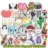 100 Decals Dope Sticker Skateboard Stickers Vinyl Laptop Luggage Lot Mix Random