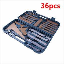 36pcs Car Door Home Plastic Trim Panel Clip Dash Radio Removal Pry Tools w/ Case