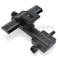 4-way Macro Focusing Rail Slider Tripod Bracket for Canon Sony Nikon Camera
