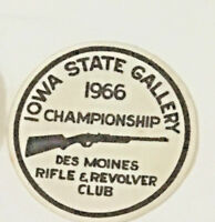 1966 Iowa State Gallery championship Des Moines rifle club patch 4-1/4 dia #7078