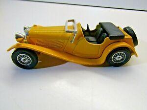 Matchbox Models of Yesteryear Y-1 1936 SS 100 Jaguar Yellow Die Cast Model