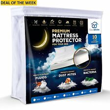NEW QUEEN SIZE Protect Your Bed Premium Waterproof Mattress Protector Cover