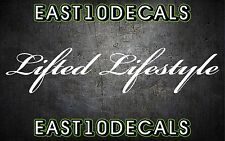 Lifted Lifestyle windshield banner vinyl car decal sticker diesel ford jeep 1500