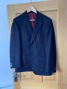 Ede And Ravenscroft Wool Navy Blazer 40r New
