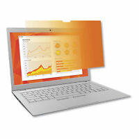 """3M Frameless Gold Privacy Filters for 13.3"""" Widescreen Notebook, 16:9 Aspect"""
