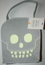 Pottery Barn Kids Halloween Glow in the Dark Skull Treat Bag New w/Tags