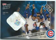 2017 Topps Now #40B Chicago Cubs World Series Ring Ceremony - Base Relic #33/49